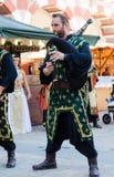 Músicos medievais na celebração de Almossassa Foto de Stock Royalty Free