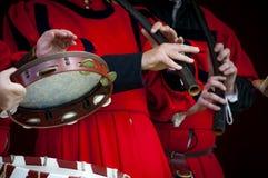 Músicos medievales Fotos de archivo