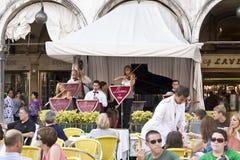 Músicos no quadrado do `s da marca do St Foto de Stock Royalty Free