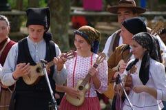 Músicos portugueses del folclore Imagen de archivo libre de regalías