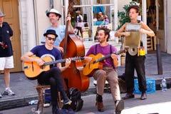 Músicos reais da rua de Nova Orleães imagens de stock royalty free
