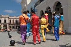 Músicos y bailarines en La Habana Foto de archivo