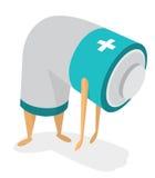 Müde Batterie ohne Energie Lizenzfreie Stockfotos