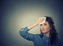 Müde Frau lizenzfreies stockfoto