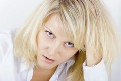 Müde Geschäftsfrau Lizenzfreie Stockfotografie