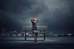 Müde Geschäftsfrau Stockfotos