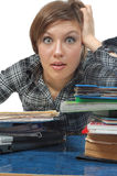 Müde Geschäftsfrau Lizenzfreie Stockbilder