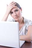 Müde Geschäftsfrau Lizenzfreies Stockfoto