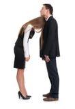Müde Geschäftsfrau und Geschäftsmann Lizenzfreies Stockfoto