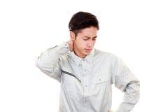 Müde und betonte asiatische Arbeitskraft lizenzfreies stockfoto