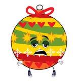 Müde Weihnachtsbaum-Spielzeugkarikatur Lizenzfreies Stockbild
