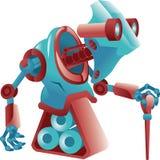 Müder alter Roboter Stockfoto