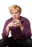 Müder junger Mann Lizenzfreies Stockfoto