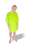 Müder Mann im grünen Nachthemd Stockbilder