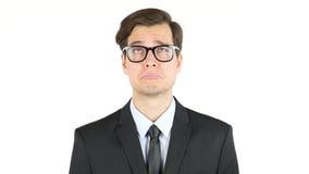 Müder und trauriger Geschäftsmann, gefeuert stockfoto