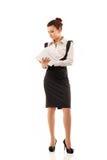 Müdes deprimiertes der Geschäftsfrau Lizenzfreies Stockbild