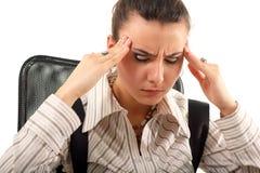 Müdes deprimiertes der Geschäftsfrau Stockfotos