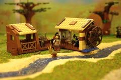Mühle auf dem Fluss Lizenzfreies Stockfoto