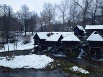 Mühle auf Wasser Lizenzfreie Stockfotos