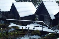 Mühle auf Wasser Stockfoto