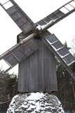 Mühle im Schnee Stockbild