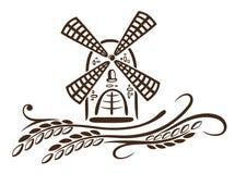 Mühle, Korn, Bäckerei lizenzfreie abbildung