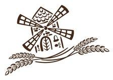 Mühle, Korn, Bäckerei stock abbildung