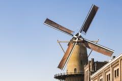 Mühle Kyck über Höhle Dyk in Dordrecht, die Niederlande stockfotografie