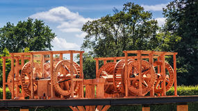 ` Mühle von Blut `, die Blutmühle Es ist eine Replik einer Mühle, in der die Arbeitskräfte, einschließlich Sklaven, Silbermünzen  stockbilder