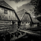 Mühlen auf dem Fluss Gacka Lizenzfreies Stockfoto