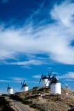 Mühlen. Consuegra. La Mancha Lizenzfreie Stockfotografie