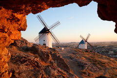 Mühlen. Consuegra. La Mancha Stockfotografie