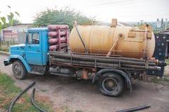 Müllabfuhrauto Lizenzfreies Stockfoto