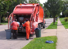 Müllabfuhrmänner Lizenzfreie Stockbilder