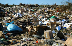 Müllentsorgung-Site stockfotografie