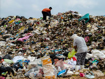 Müllgrube in Thailand Stockbild