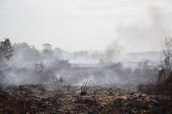 Müllgrubenfeuer in Thailand Lizenzfreie Stockfotos