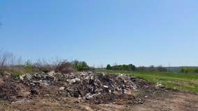 Müllkippe Der Hausmüll Verunreinigung der Umgebung Stockfoto