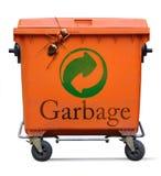 Mülltonne und große Ameise Lizenzfreie Stockbilder