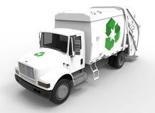 Müllwagen auf Weiß mit Schatten lizenzfreie abbildung