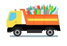 Müllwagen mit Abfall stock abbildung