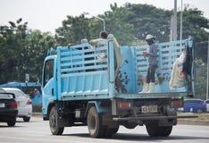 Müllwagen von Nongjom-Subdistrict Verwaltungs-Organizatio Lizenzfreies Stockbild