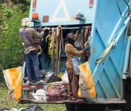 Müllwagen von Nongjom-Subdistrict Verwaltungs-Organizatio Stockfotografie