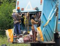 Müllwagen von Nongjom-Subdistrict Verwaltungs-Organizatio Lizenzfreie Stockfotos