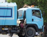 Müllwagen von Nongjom-Subdistrict Verwaltungs-Organizatio Lizenzfreie Stockfotografie