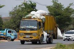 Müllwagen von Nongjom-Subdistrict Verwaltungs-Organizatio Stockbilder