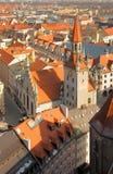 München-aereal Ansicht über altes Rathaus Stockfotografie