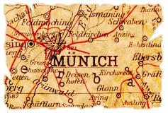 München-alte Karte Lizenzfreies Stockbild