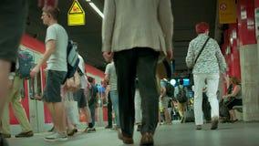München Beieren, Duitsland, Europa - Juli 02 2018 Spoorweg openbare Vervoer stock video
