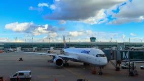 MÜNCHEN, BEIEREN, DUITSLAND - MAART 13, 2019: Lufthansa-Luchtbus A350-900 Bochum bij de Luchthaven van München stock foto's